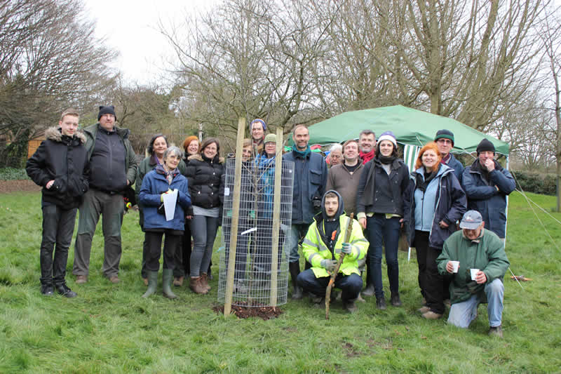 Community orchard planting day in the Rookery, February 2014
