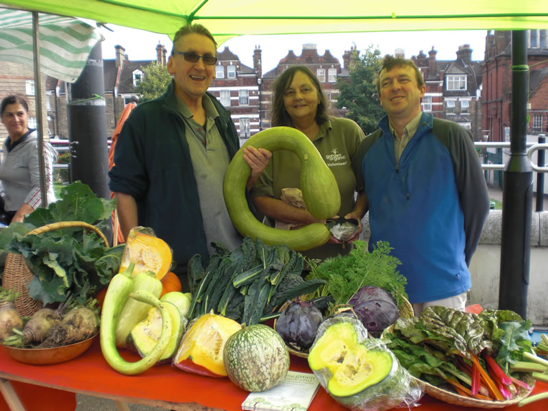 SCCG goes to market, part of Urban Food Fortnight, Sept 2013